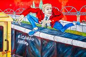BERLIN, GERMANY- JULY 31, 2014: Berlin Wall was a barrier constructed starting on 13 August 1961. Ea
