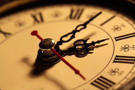 pic of chronometer  - Close up of an Old clock face