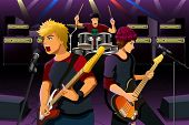 Постер, плакат: Teenagers In A Rock Band