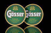 Beermats From Gosser Beer.
