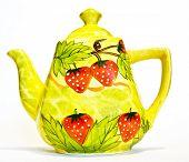 Tea Pot With Strawberry