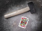 Hammer With A Broken Card, Jack Of Diamonds