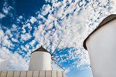 Windmill In Oia Town.