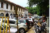 Parking in front of the temple of Tooth relic, Kandy