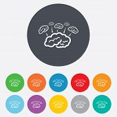 Brain sign icon. Brainstorm business ideas.