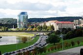 Vilnius City Panorama With River Neris On September 24, 2014