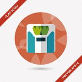 Weight Scale Flat Icon With Long Shadow,eps10