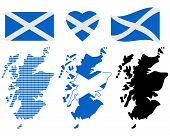 pic of cartographer  - Scotland different card types and characters on a white background - JPG