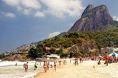 Crowded Ipanema beach Rio de Janeiro, Brazil