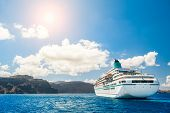 pic of greek  - Big cruise liners near the Greek Islands - JPG