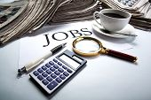 Job Search Still Life With Title Jobs