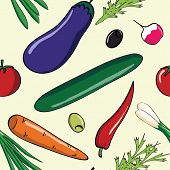 fresh vegetables pattern