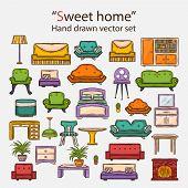 Vector  sweet home set