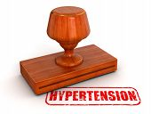 Rubber Stamp hypertension  (clipping path included)