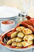 Cheesy Asiago Bread Sticks And Dip