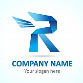 R fly logo template