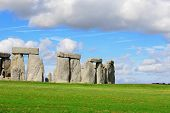 stock photo of stonehenge  - Stonehenge an ancient prehistoric stone monument near Salisbury Wiltshire UK - JPG