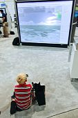 Esri User Conference -  Child Watching 3D Display