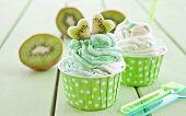 Frozen Yogurt With Fresh Kiwi