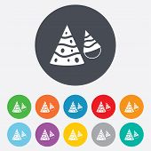 Party hat sign icon. Birthday celebration symbol
