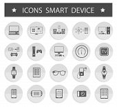 Vector Illustration Smart Devices On White Background