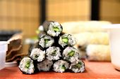 Rice Rolls With Cucumber