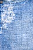 Detail Of Torn Blue Denim