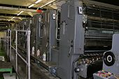stock photo of premises  - The premises of a printing press the offset printing machine speedmaster - JPG