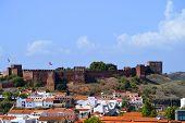 Silves castle in the Algarve, Portugal