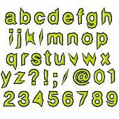 Green Glossy Punk Techno Eighties Font
