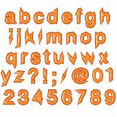 Orange Glossy Punk Techno Eighties Font