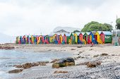 Multi-colored Beach Huts At St. James