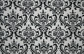 Damask Pattern in Black and White