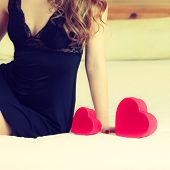 Woman Part Body With Heart.