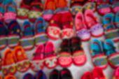 Blurry Image Of Handmade Kid Shoe