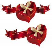 Heart Shaped Box With Ribbon