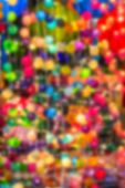 Abstract Blur Background Decorating Light Balls.
