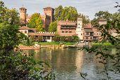 The castle along the Po River, Turin