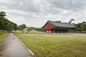 Gyeongju, Korea - October 20, 2014: Oreung Royal Tombs