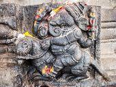 foto of hindu-god  - A carving of the Hindu god Ganesh  - JPG