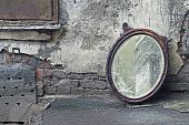 Thrown Out Old Mirror