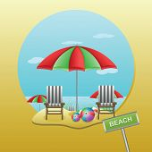Beach Parasol - Illustration