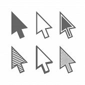 pic of arrow  - Mouse Arrow Cursors Set on White Background - JPG
