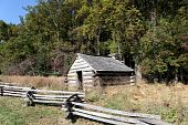 pic of revolutionary war  - Cabin used by Revolutionary War soldiers during the brutal winter of 1776 under the command of General George Washington - JPG