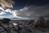 picture of unique landscape  - the unique natural rock formations on the ancient burren landscape  - JPG