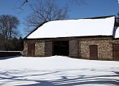 stock photo of revolutionary war  - This barn is part of the Thompson - JPG
