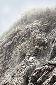 stock photo of smog  - a Snowy Mountain on a smog day - JPG