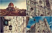 Collage from the Italian city of Florence