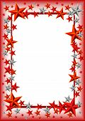Holiday Frame With Stars On Defender Of The Fatherland Day. February 23