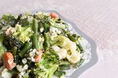 steamed vegetables with sour cream